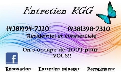Entretien RGG - Commercial, Industrial & Residential Cleaning - 438-494-7310