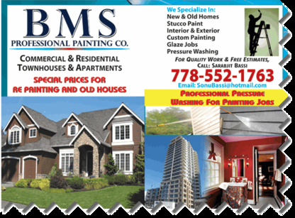 BMS Professional Painting Co - Painters - 778-552-1763