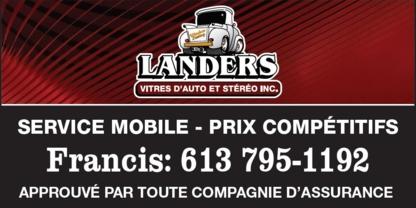 Landers Auto Glass & Sterio - Auto Glass & Windshields - 613-795-5697