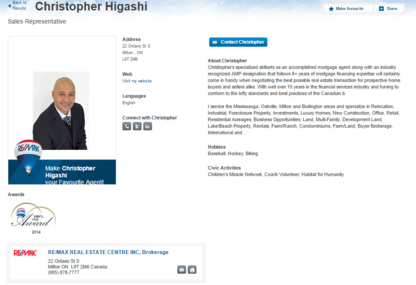 Christopher Higashi - Real Estate Agents & Brokers - 416-892-7586
