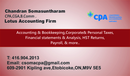 Lotus Accounting Firm - Accounting Services - 416-904-2013