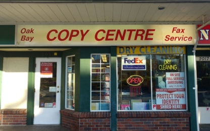 Oak Bay Copy Centre Ltd - Dry Cleaners - 250-595-3040