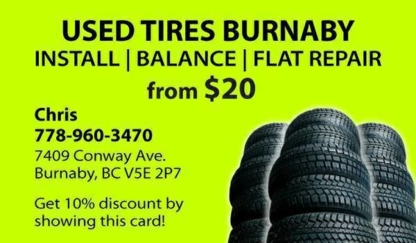 Used Tires Burnaby - Magasins de pneus d'occasion