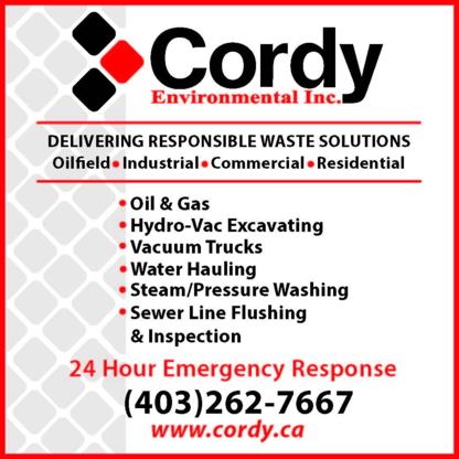 Cordy Environmental Inc - Vacuum Truck Services