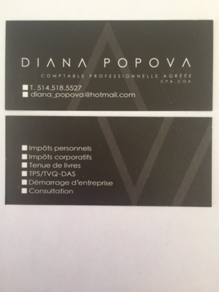 Diana Popova Service Comptable - Accountants