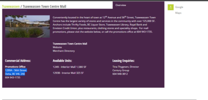 Tsawwassen Town Centre Mall - Shopping Centres & Malls
