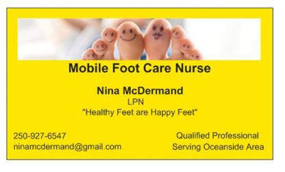 Mobile Foot Care Nurse - Foot Care - 250-927-6547