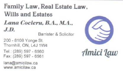 Amici Law - Family Lawyers - 289-597-6560