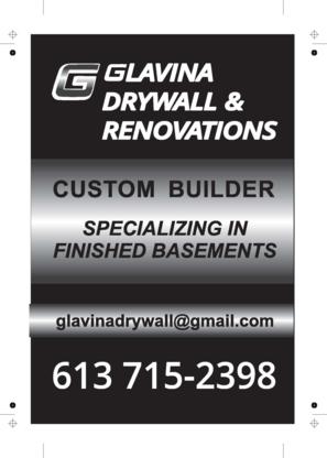 Glavina Drywall & Renovations - Entrepreneurs généraux - 613-715-2398