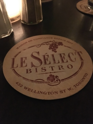 Le Select Bistro - Restaurants - 416-596-6405