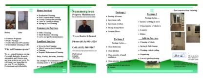 Summergreen Property Maintenance - 613-360-9167