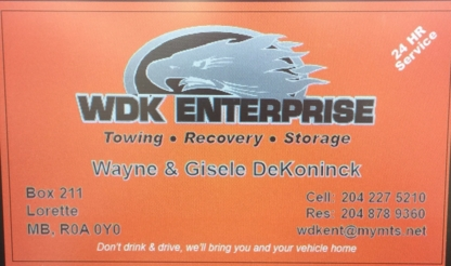 WDK Towing - Vehicle Towing - 204-227-5210