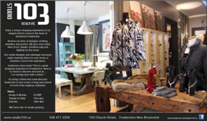 Studio 103 Design Inc - Magasins de vêtements pour femmes - 506-471-2258