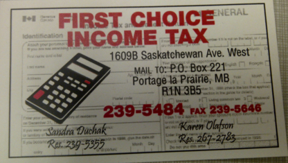 First Choice Income Tax - Tax Return Preparation - 204-239-5484