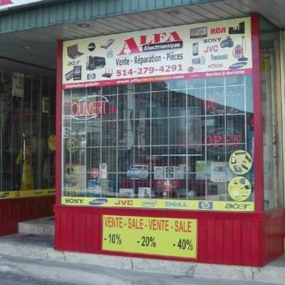 Alfa Electronique - Television Sales & Services - 514-279-4291