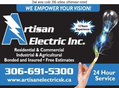 Artisan Electric Inc - Electricians & Electrical Contractors - 306-691-5300
