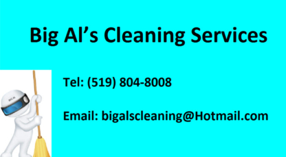 Big Al's Cleaning Services - Commercial, Industrial & Residential Cleaning - 519-804-8008