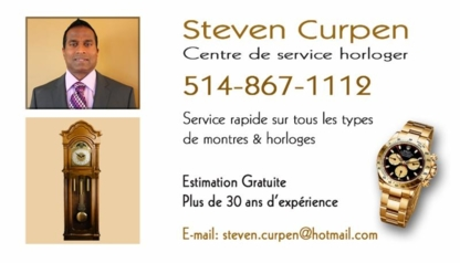 Steven Curpen Watch & Clock Service Center - Jewellery Repair & Cleaning - 514-867-1112