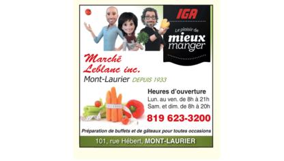 IGA - Épiceries - 819-623-3200