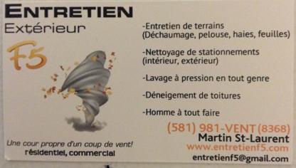 Entretien Extérieur F5 - Lawn Maintenance - 581-981-8368