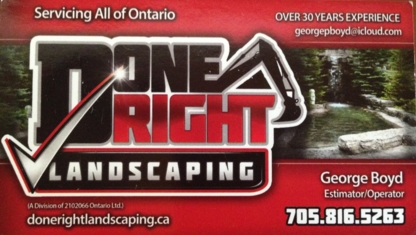 Done Right Landscaping - Landscape Contractors & Designers