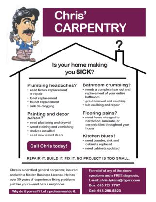 Chris' Carpentry - Carpentry & Carpenters