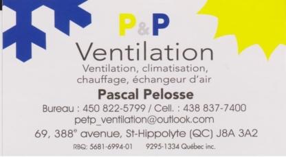 P & P Ventilation - Nettoyage de conduits d'aération - 450-822-5799