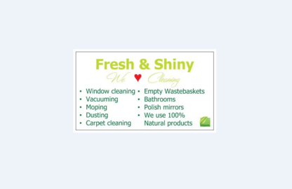 Fresh & Shiny - Commercial, Industrial & Residential Cleaning - 289-892-5016