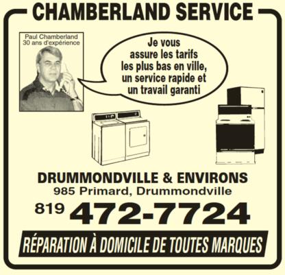 Chamberland Service Enr - Vente et réparation de laveuses et de sécheuses