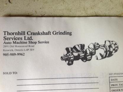 Thornhill Crankshaft Grinding Services Ltd - Car Machine Shop Service - 905-989-9962