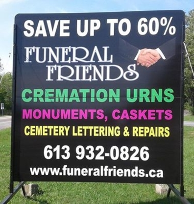 Funeral Friends - Monuments & Tombstones - 613-932-0826