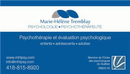 Marie-Hélène Tremblay - Psychologue - Psychologists - 418-815-8920