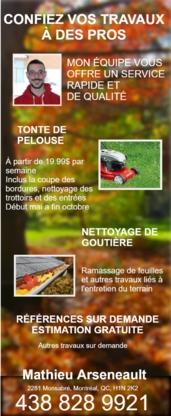 Les Services Mathieu Arseneault - Paysagistes et aménagement extérieur - 438-828-9921
