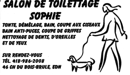 Salon De Toilettage Sophie - Pet Grooming, Clipping & Washing - 418-986-2008