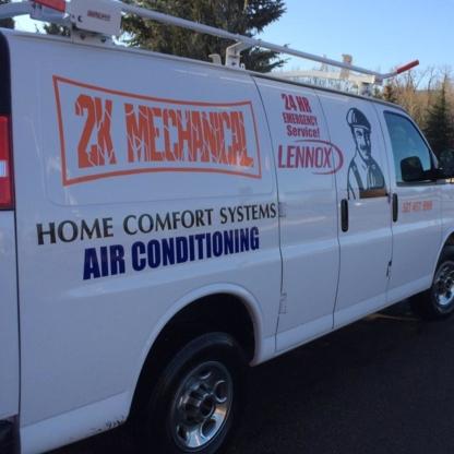 2K Mechanical - Furnaces - 587-457-9999