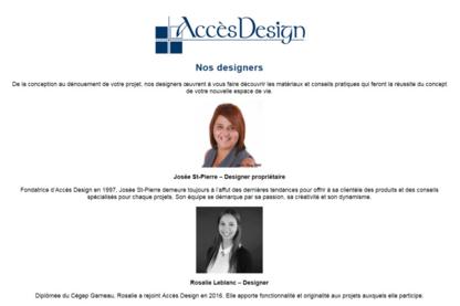 Accès Design - Designers d'intérieur - 819-358-2077