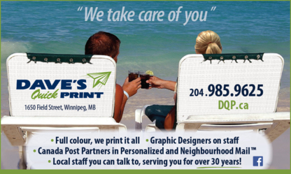 Dave's Quick Print - Copying & Duplicating Service - 204-985-9625