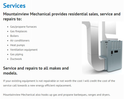 Mountainview Mechanical - Heating Contractors