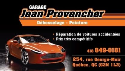 Garage Jean Provencher - Réparation de carrosserie et peinture automobile - 418-849-0181