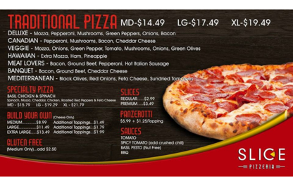 Slice Pizzeria - Italian Restaurants - 705-294-8844