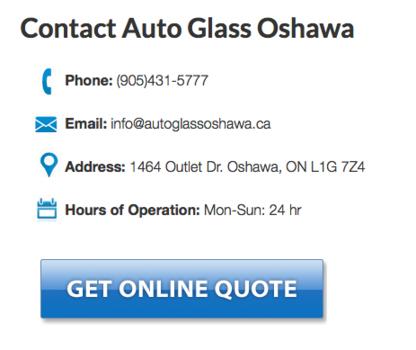 Auto Glass Oshawa - Pare-brises et vitres d'autos - 905-431-5777