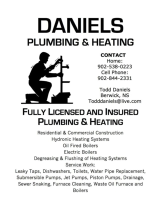 Daniel's Plumbing & Heating - Plombiers et entrepreneurs en plomberie - 902-844-2331