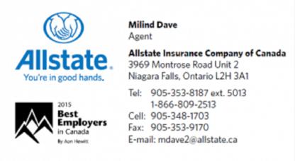 Allstate Insurance: Niagara Agency - Insurance Agents - 289-302-0119
