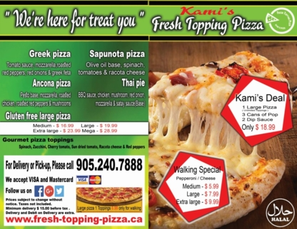 Kami's Fresh Topping Pizza - Pizza & Pizzerias - 905-240-7888