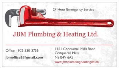 JBM Plumbing & Heating Ltd - Plombiers et entrepreneurs en plomberie - 902-530-3755
