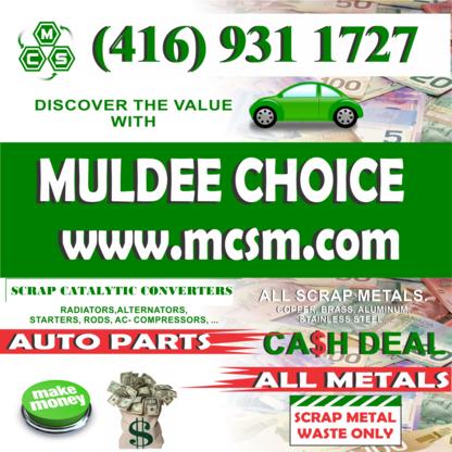 Muldee Choice Scrap & Metal - 416-931-1727