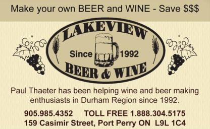 Lakeview Beer & Wine - Wine Making & Beer Brewing Equipment - 905-985-4352
