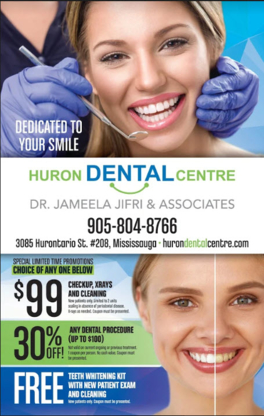 Dr Jameela Jifri - Huron Dental Centre - Emergency Dental Services - 905-804-8766