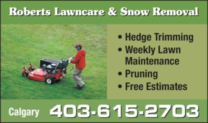 View Roberts Lawncare & Snow Removal's Calgary profile