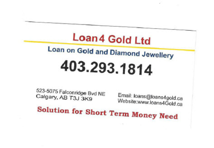 Loan 4 Gold - Pawnbrokers - 403-293-1814